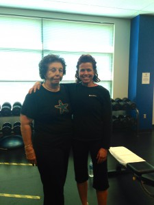 Trainer, Mary Beth Chandler and client Michelle Waterman.