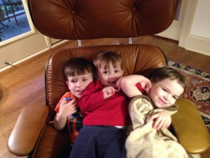 The author's daughter and her cousins enjoying the joyful side of Passover