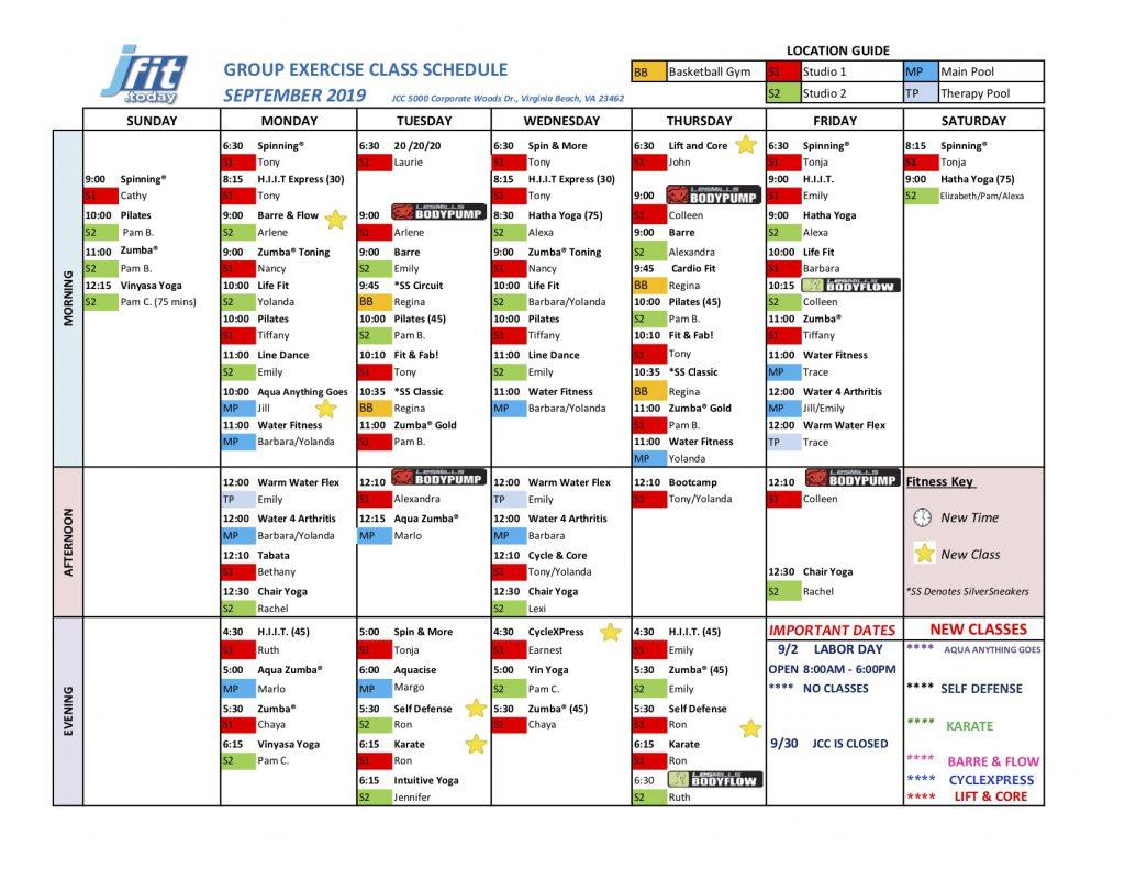 Schedule | Simon Family JCC | Fitness  Family  Fun  For